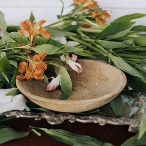 Primitive Carved Wood Dough Bowl